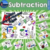 Subtraction Monthly Color by Number Bundle
