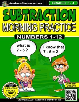 Subtraction Morning Practice Worksheets