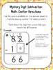 Subtraction Mystery Digit Math Center