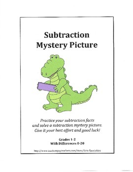 Subtraction Mystery Picture