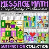 Subtraction Mystery Pictures - Message Math