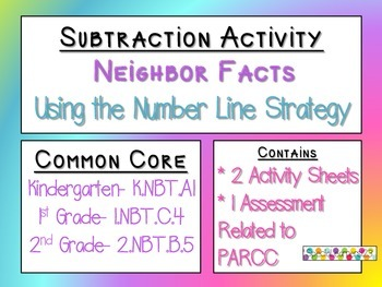 Subtraction Neighbor Facts Activities and Assessment (PARCC)