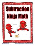 Subtraction Ninja Math: Fact Fluency Practice/Self Correct