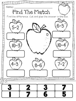 Subtraction No Prep Printable Pages- *From 10*