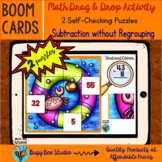Subtraction No Regrouping | 2 Math Puzzles | Boom Cards | #Distance Learning