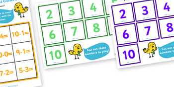 Subtraction Noughts and Crosses to 10