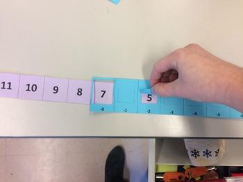 Subtraction Number Line Slider