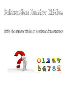 Subtraction Number Riddles Problem Solving