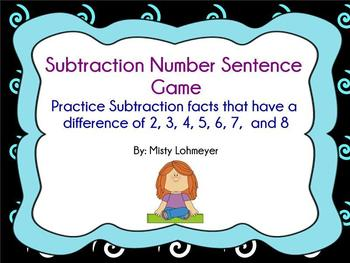 Subtraction Number Sentence Game
