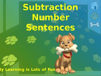 Subtraction Number Sentences Powerpoint