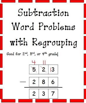 Subtraction Number Stories-3rd and 4th Grade (Differentiated)
