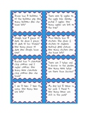 Subtraction Number Story Cards