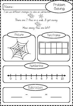Subtraction Number Worksheets
