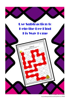 Subtraction Numbers 1-9: Maze