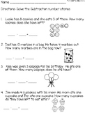 Subtraction Numbers Stories Word Problems