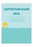 Subtraction Ocean Math Fact Assessments