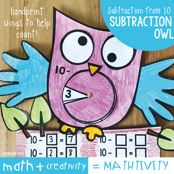 Subtraction Owl Craft - Subtraction from 10