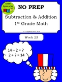 Subtraction Packet - Patriotic/President's Day Theme