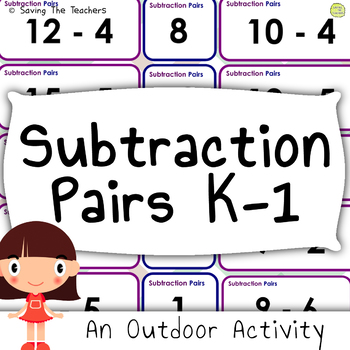 Subtraction Pair Cards: Outdoor Activity