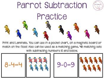 Subtraction Parrots