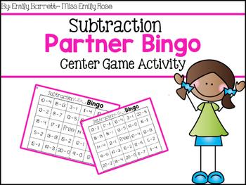 Subtraction Partner Bingo Freebie
