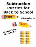 Subtraction Pencil Puzzles