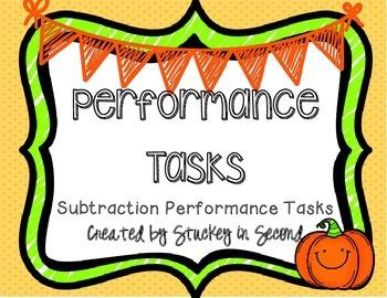Subtraction Performance Tasks FREEBIE
