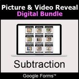 Subtraction - Picture & Video Reveal Game  | Digital Bundl