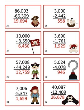 Subtraction Pirate Game