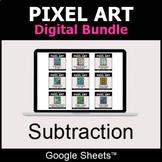 Subtraction - Pixel Art Digital Bundle   Google Sheets   D