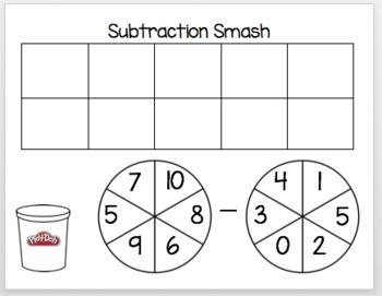 Subtraction Playdough Smash