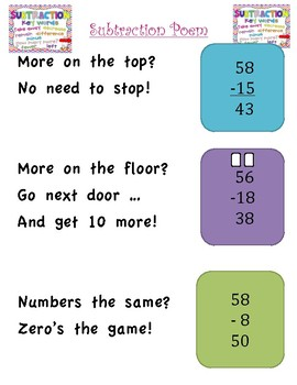 Addition and Subtraction Poems