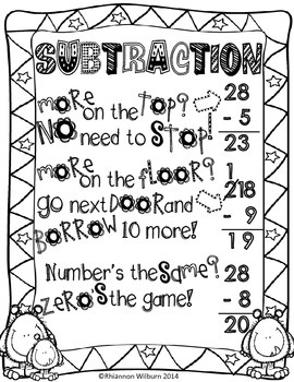 Subtraction Poem Poster