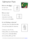 Subtraction Poem Poster ~ Steps for Regrouping Zeros too!