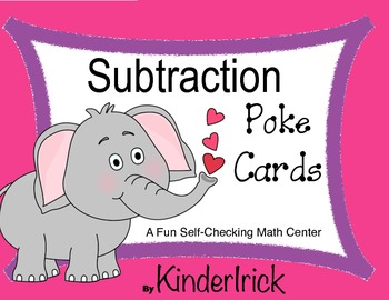 Subtraction Poke Cards