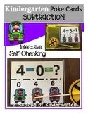 Subtraction Poke Cards (Car theme)