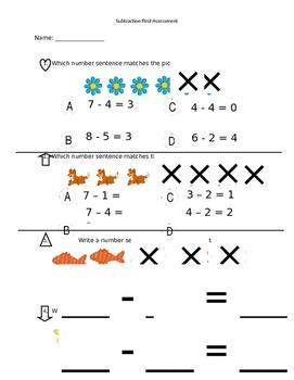 Subtraction Post Assessment