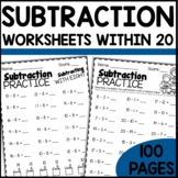 Math Worksheets 1st Grade | Subtraction Practice