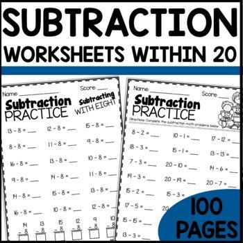 Math Worksheets 1st Grade | Subtraction Practice