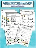 Subtraction Practice Activities - Fluency within 5