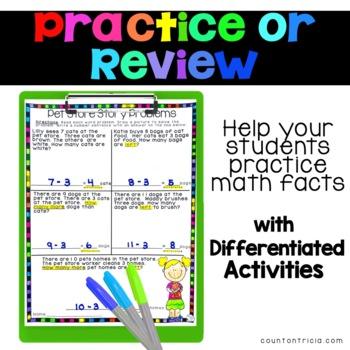 Subtraction Fact Activities Minus 3