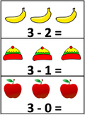 Subtraction Practice Cards! Cross Out, Number Line & Word