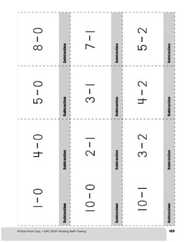 Subtraction Practice Flashcards, Grade 1