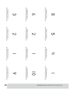 Subtraction Practice Flashcards, Grade 2