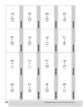Subtraction Practice Flashcards, Grade 3