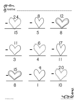 Subtraction Games and Worksheets less than 25
