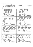 Subtraction Practice Page