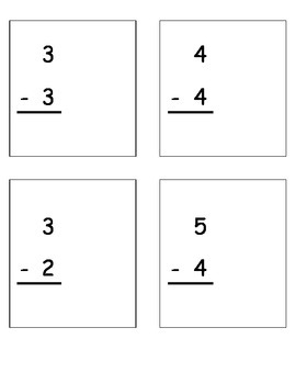 Subtraction Practice Pages