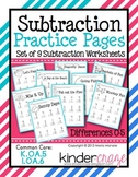 Subtraction Practice Pages {Differences to 5}