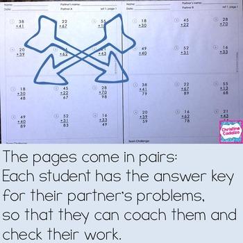 Subtraction Practice Partner Pages